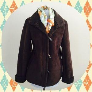 Talbots Brown Suede Coat
